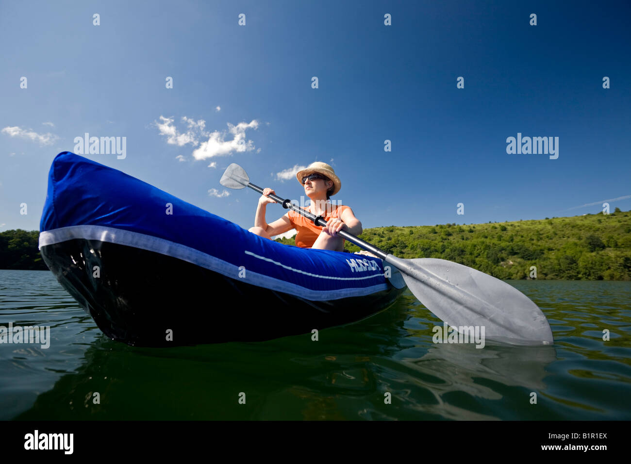 Inflatable Oar Boat Stock Photos & Inflatable Oar Boat Stock