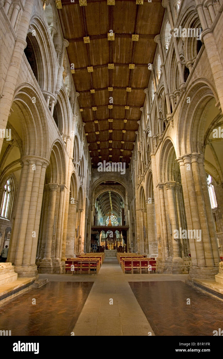 Interior Selby Abbey Yorkshire UK - Stock Image