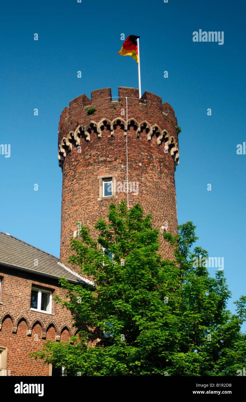 Castle tower, Kempen, North Rhine-Westphalia, Germany - Stock Image