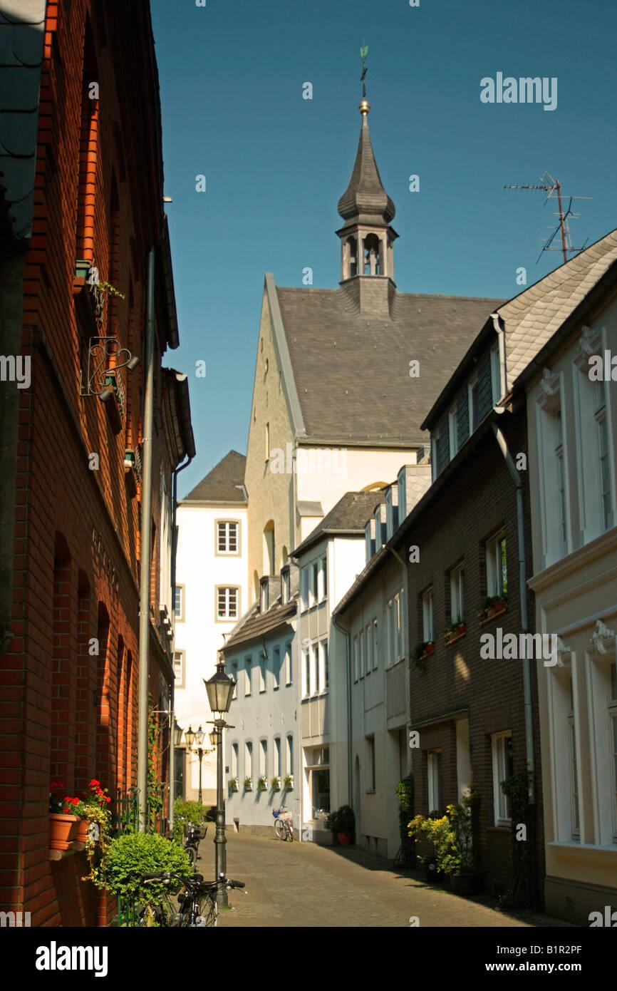Street scene, Kempen, North Rhine Westphalia, Germany - Stock Image