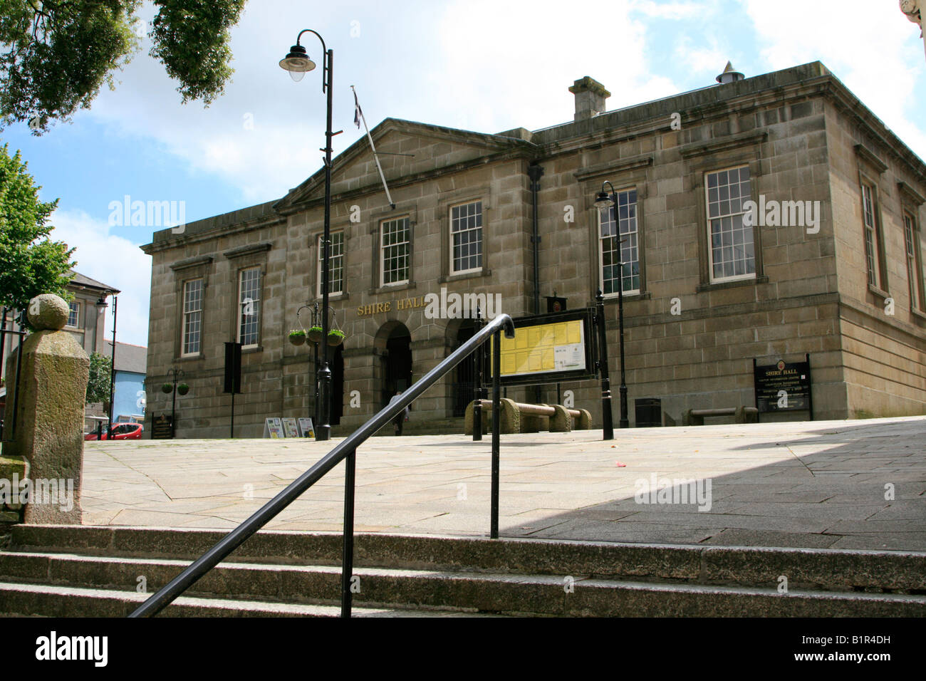 shire hall bodmin town centre high street cornwall west country england uk gb Stock Photo