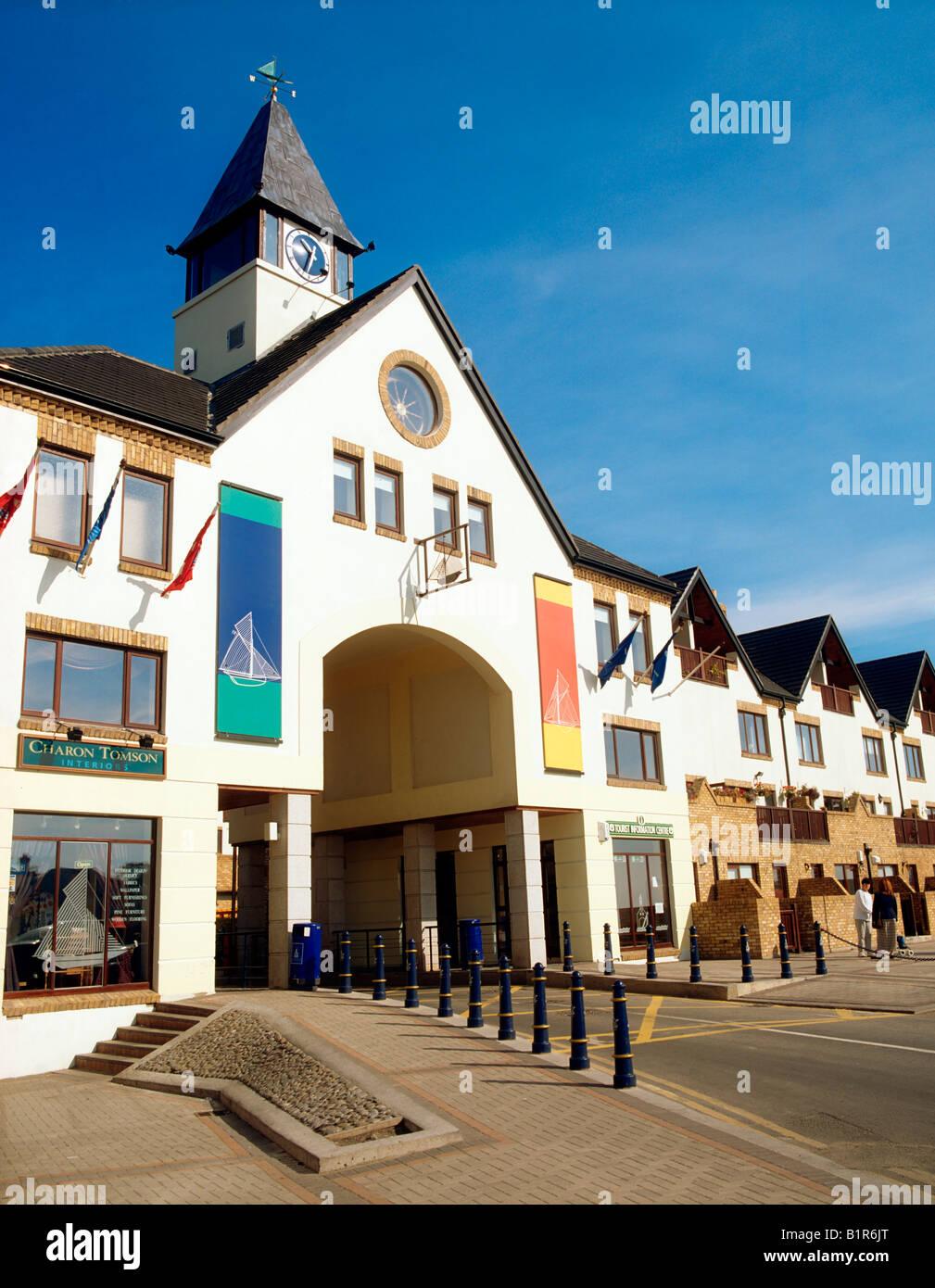 Malahide, Co Dublin, Ireland, Entrance of Malahide Marina Village - Stock Image