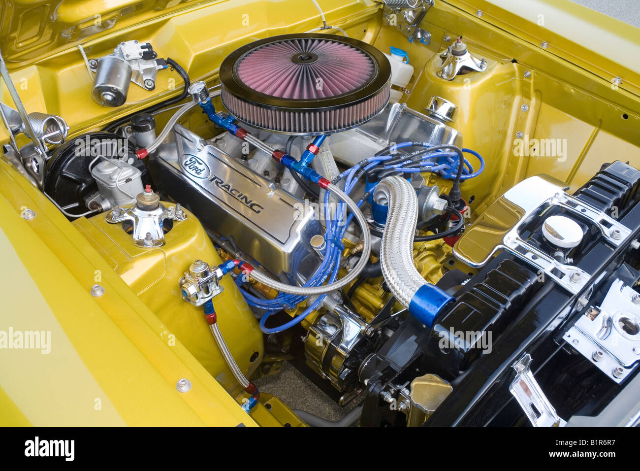 Modified And Custom Ford V8 Engine Used In A Modified Road