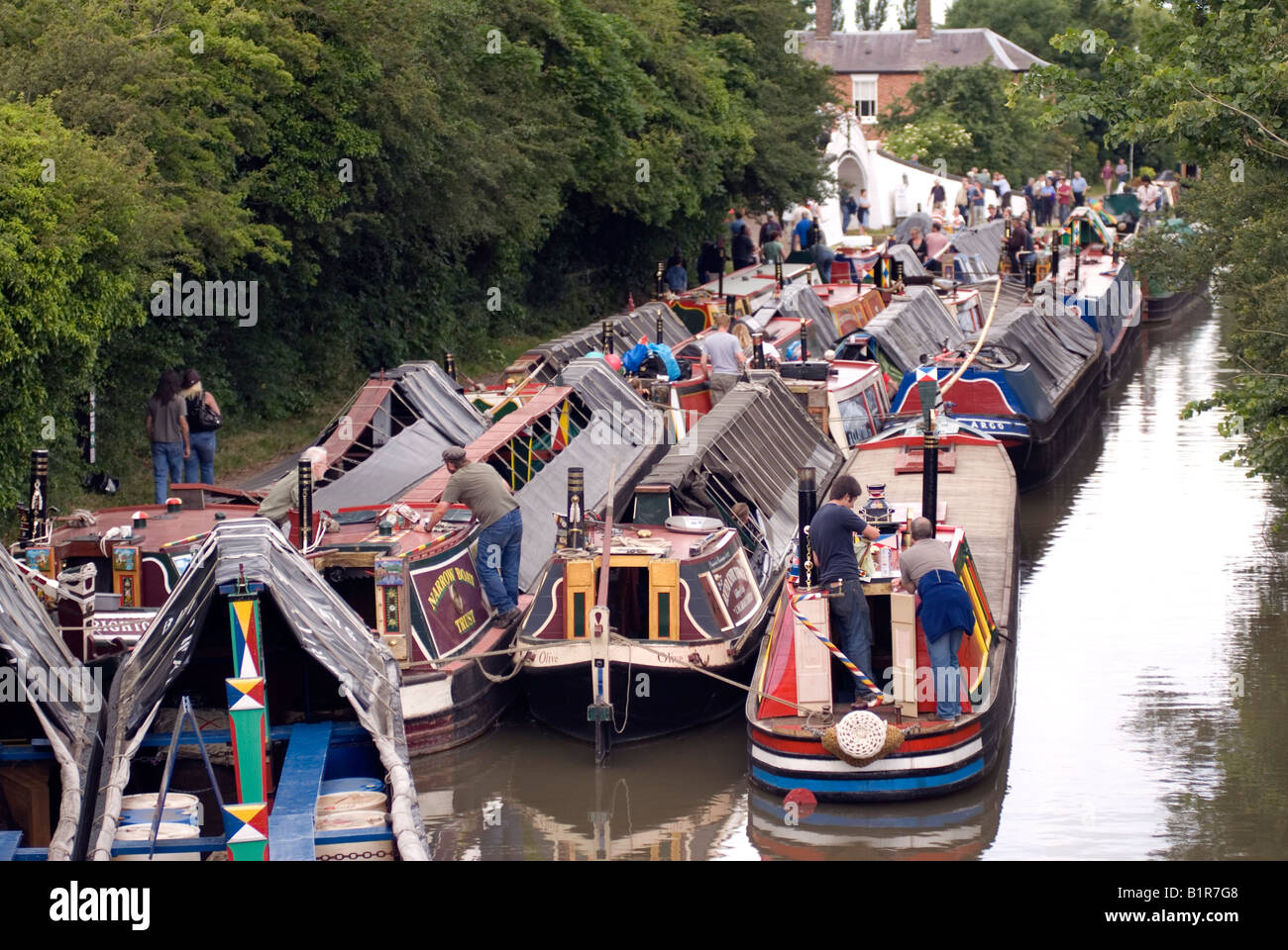 Braunston Historic Narrowboat Rally Grand Union Canal - Stock Image