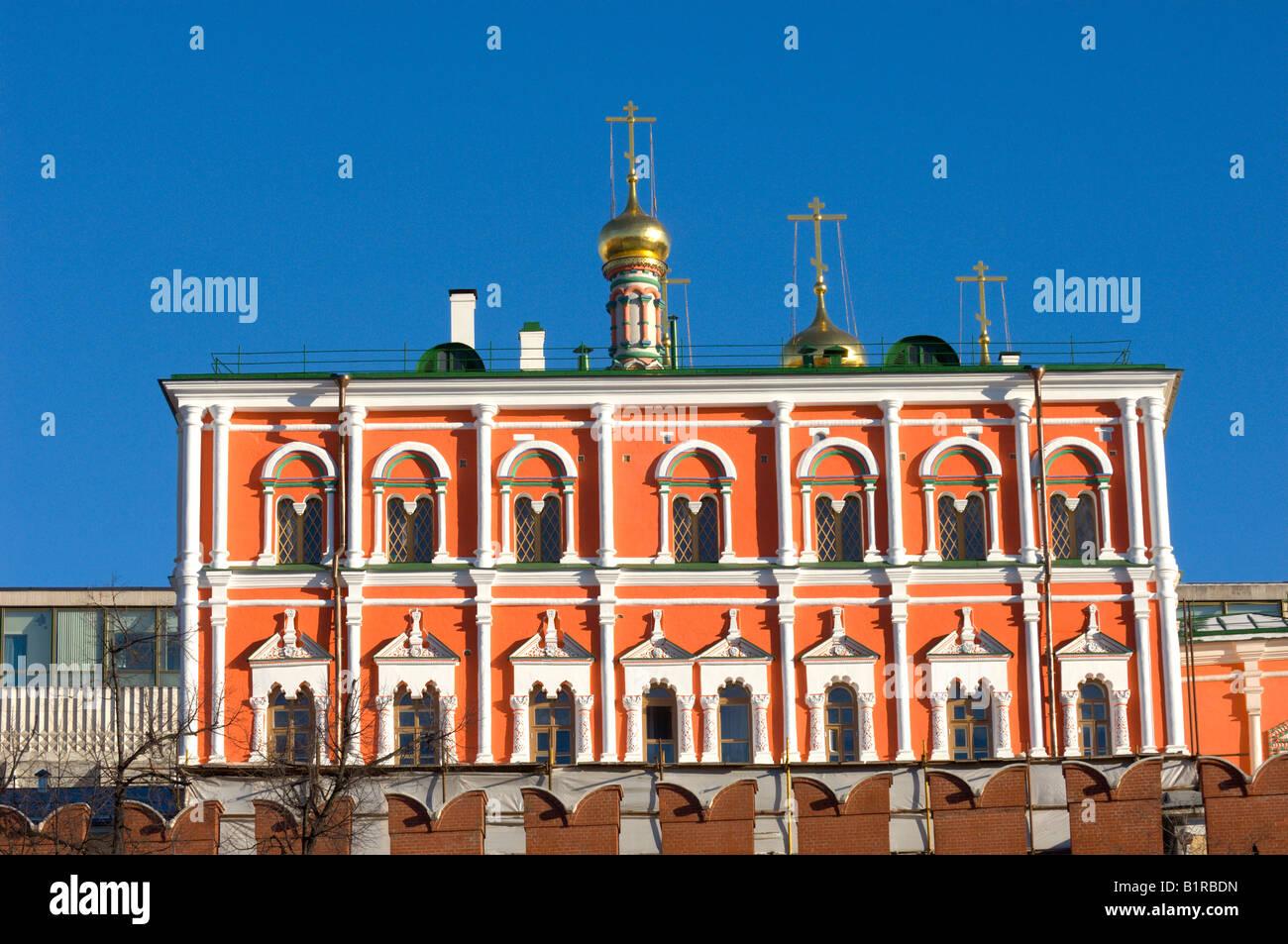 Cupolas of Poteshny Palace The Kemlin Moscow Russia - Stock Image