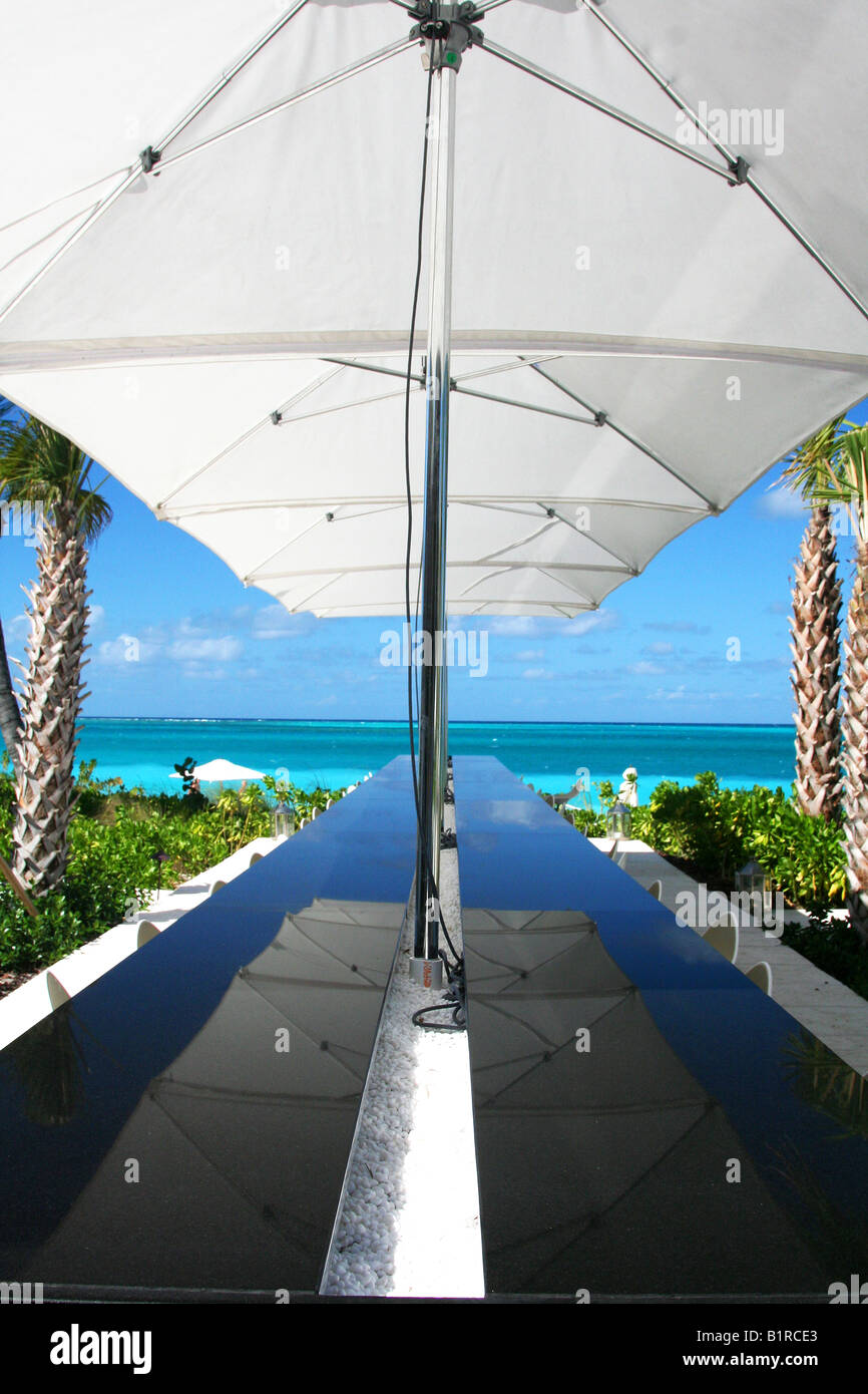 Infinity Bar at Grace Bay Club - Stock Image