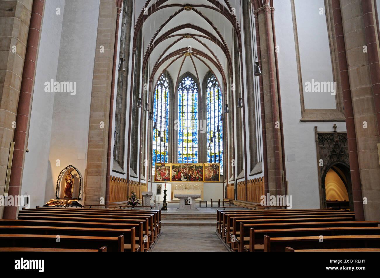 Winged alter of the Propsteikirche Church, Dortmund, North Rhine-Westphalia, Germany, Europe Stock Photo