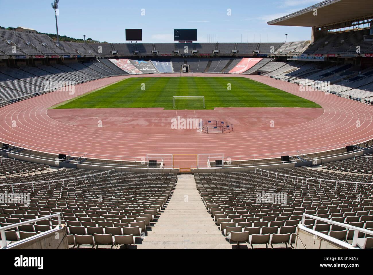 Olympic Stadium Estadi Olímpic Lluís Companys, formerly known as the Estadi Olímpic de Montjuïc, - Stock Image