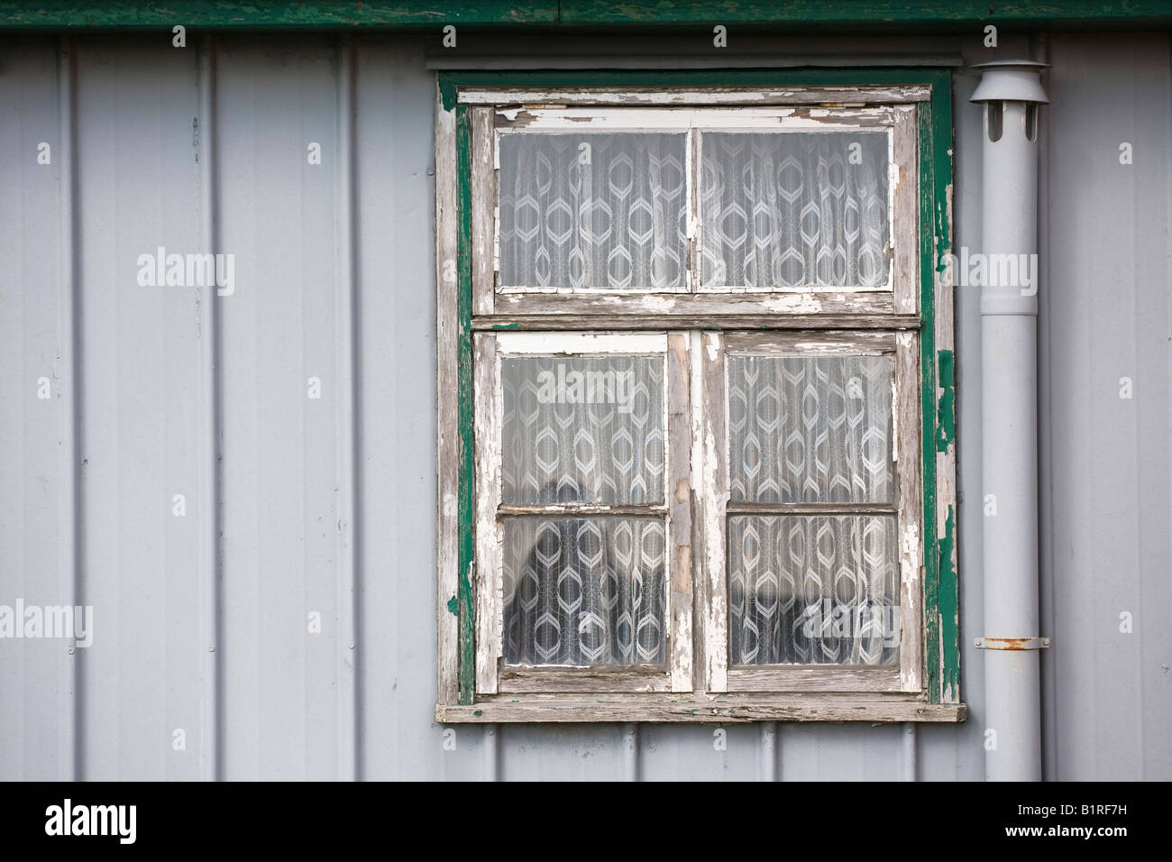 Neglected housing project, Westerhever, Nordfriesland or North Frisia, Schleswig-Holstein, Germany, Europe - Stock Image