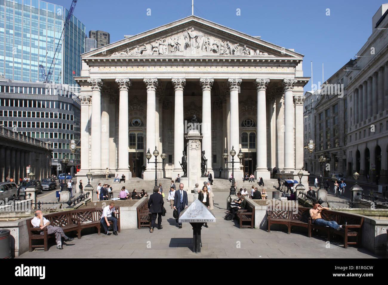 Royal Exchange, London, England, Great Britain, Europe - Stock Image