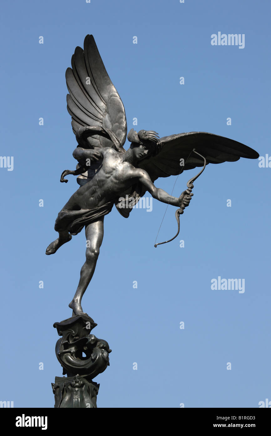 Anteros statue, Piccadilly Circus, London, England, Great Britain, Europe - Stock Image