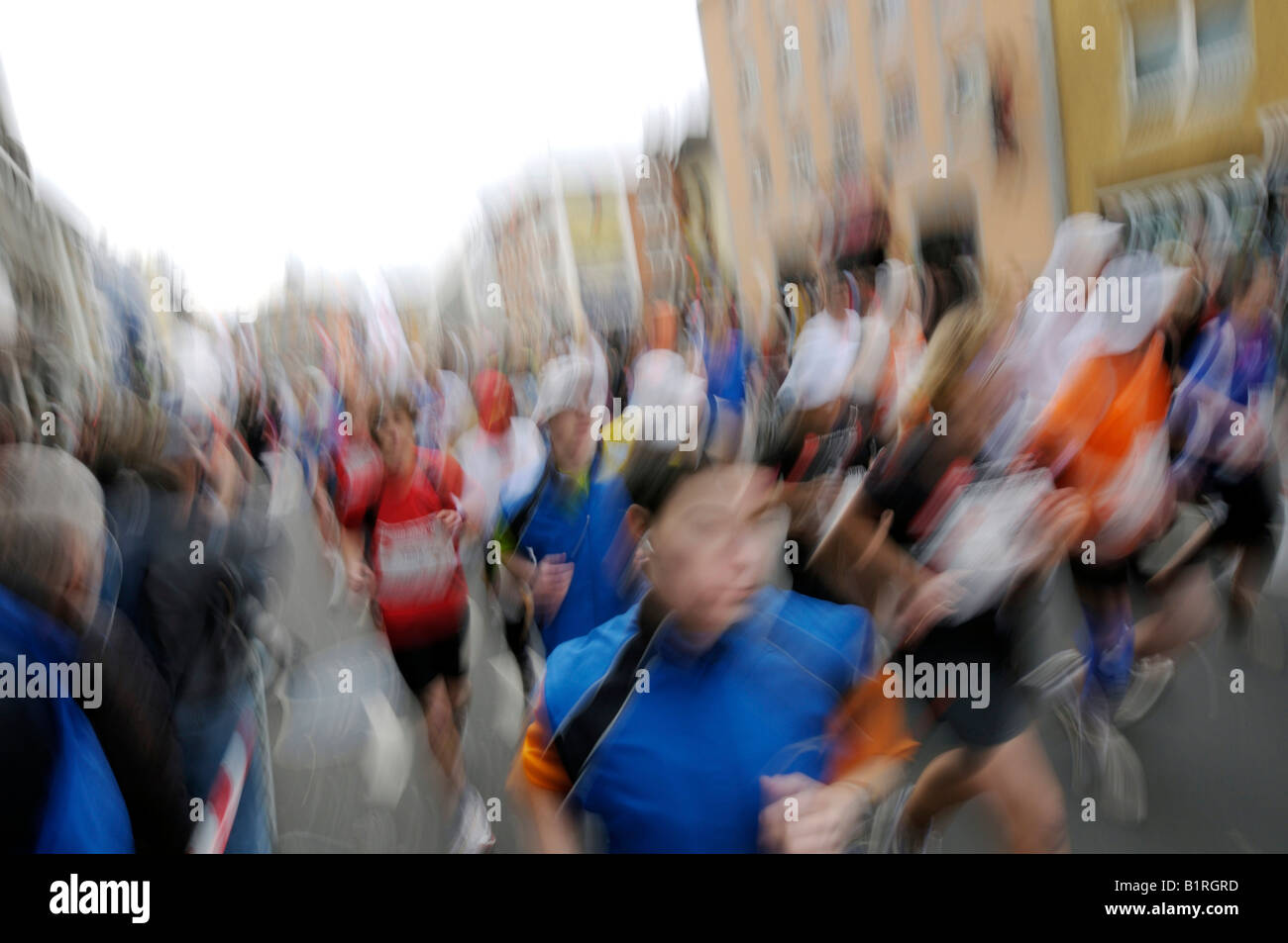 Bonn Marathon in the city centre, spectators on the side of the road, Bonn, North Rhine-Westphalia, Germany, Europe - Stock Image