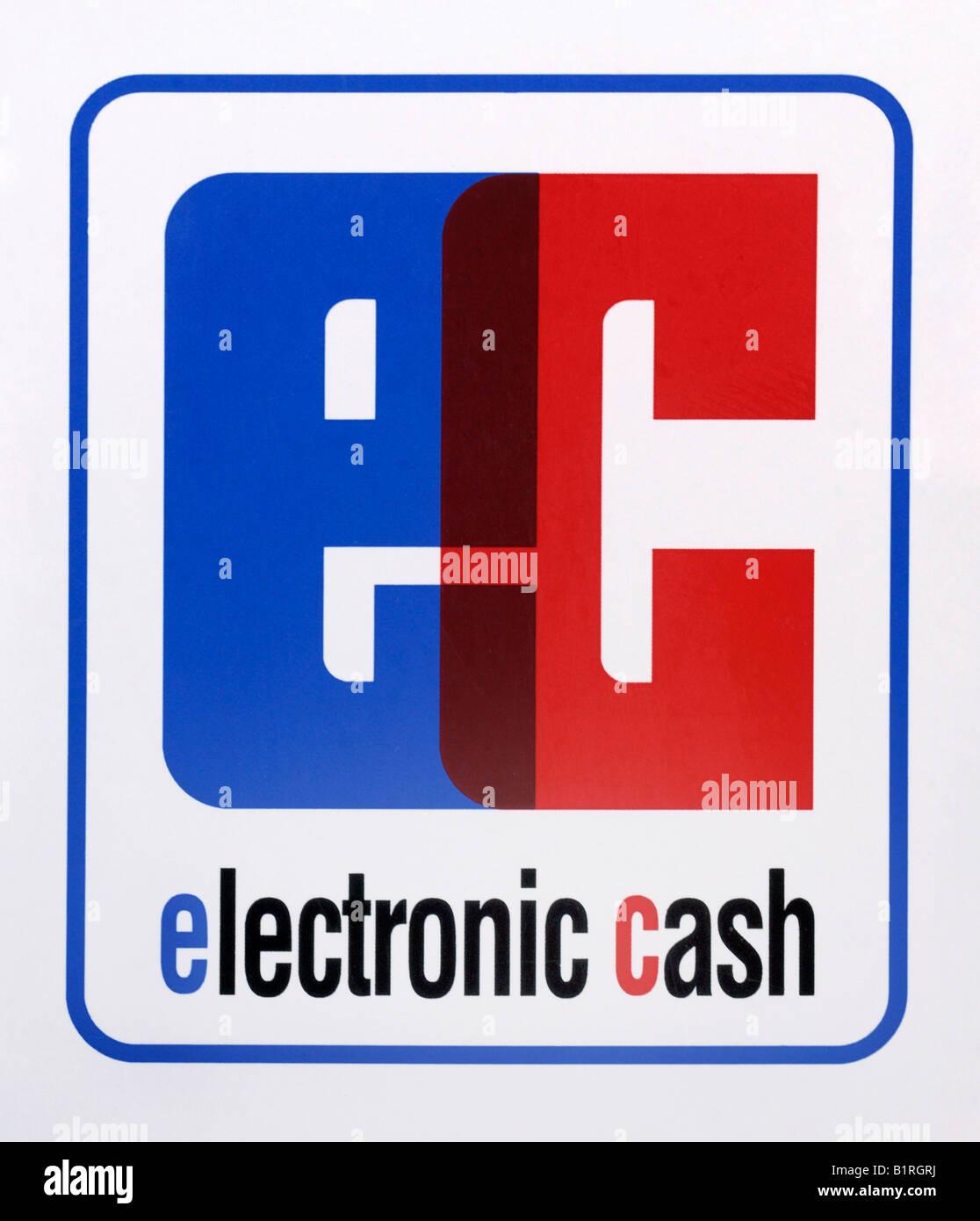 Emblem, ec, electronic cash - Stock Image