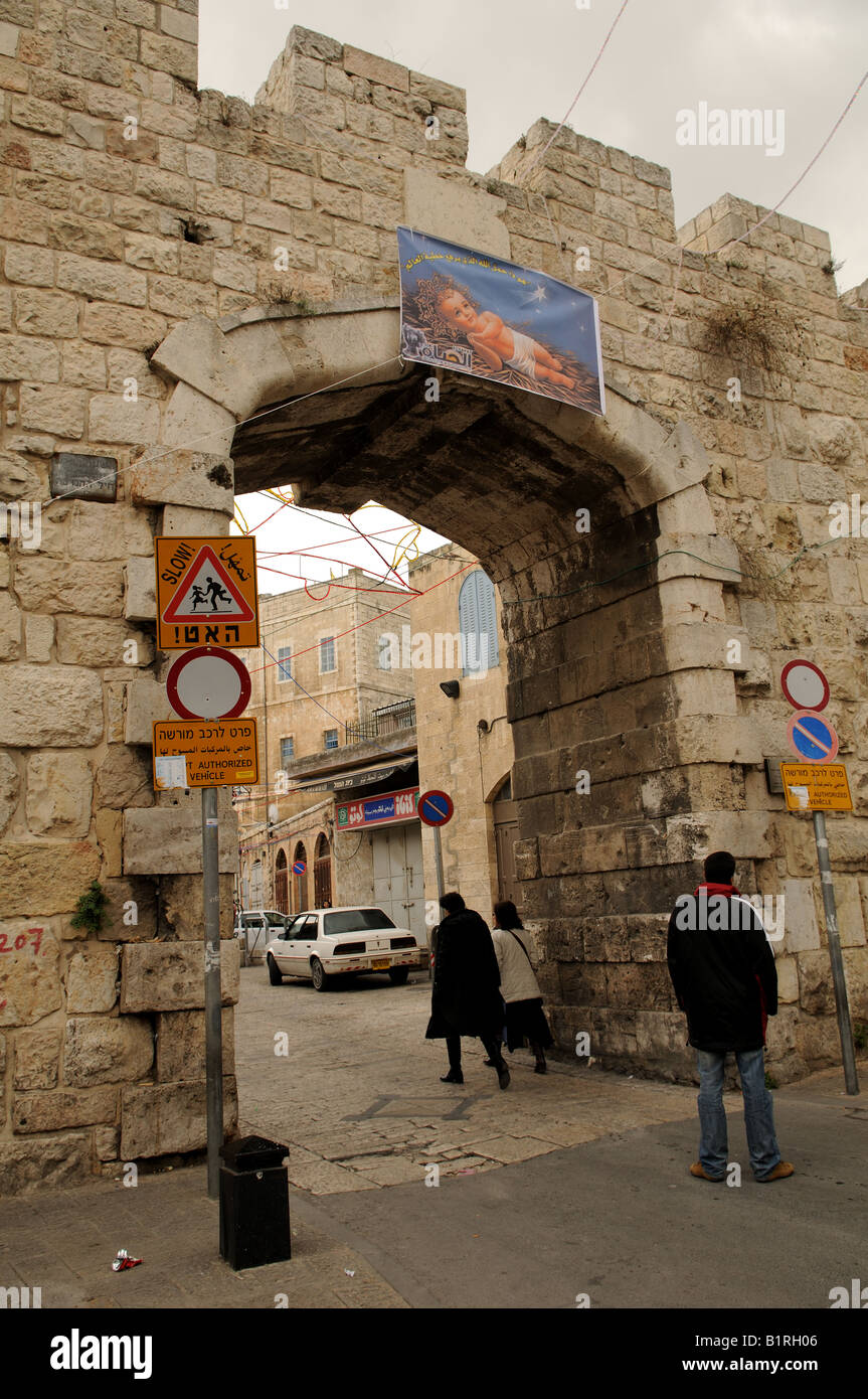 The New gate to the old city of Jerusalem was opened up in the mid 19th century - Stock Image