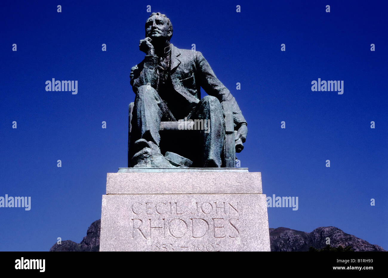 Memorial of Cecil Rhodes in front of the University of Cape Town, UCT, South Africa, Africa - Stock Image