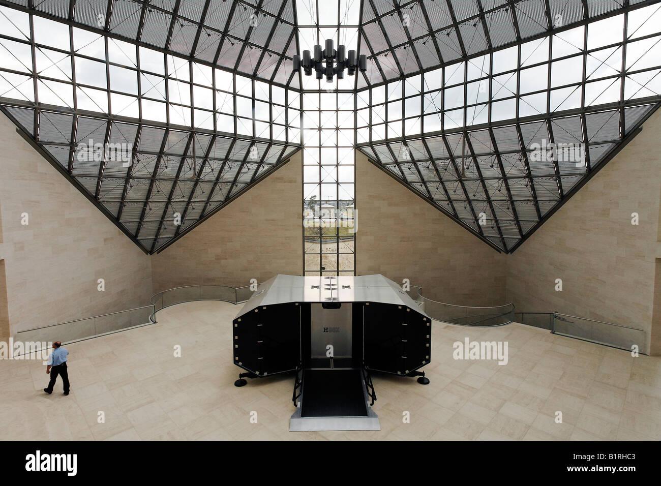 Museum of Modern Art, Musée d'Art Moderne Grand-Duc Jean, Mudam, hall with the H Box art project, Plateau de Kirchberg, Stock Photo