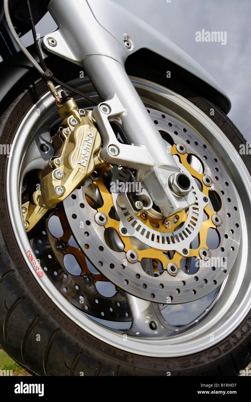 Motorbike Moto Guzzi Norge 1200, ABS brake - Stock Image