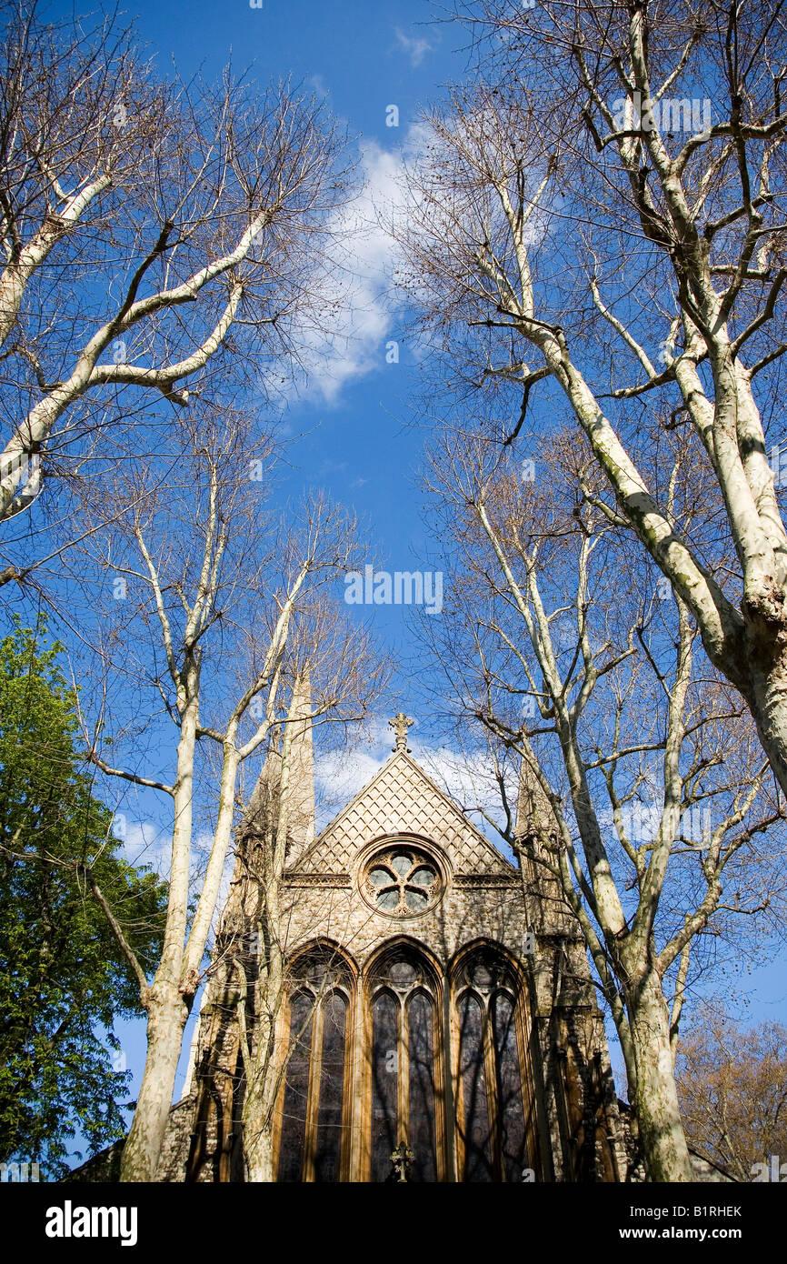 Church of St Mary Abbots, Kensington, London, Great Britain, UK, Europe - Stock Image