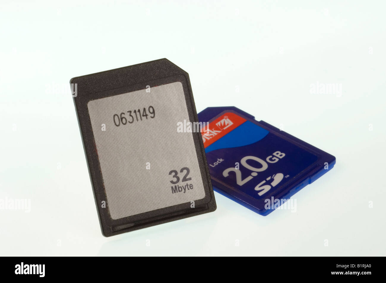 Digital memory card Stock Photo