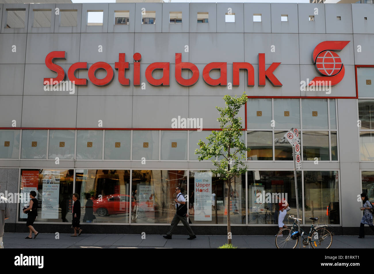 Scotiabank Branch, Bloor and Balmuto Streets, Toronto, Ontario, Canada - Stock Image