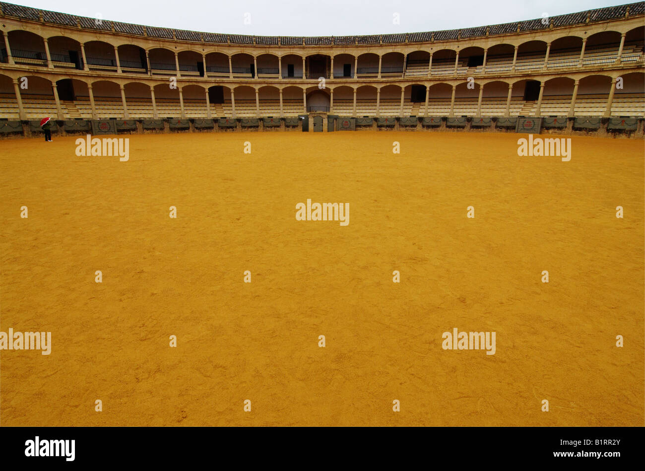 Bullfighting ring, bullring in Ronda, Malaga Province, Andalusia, Spain, Europe - Stock Image