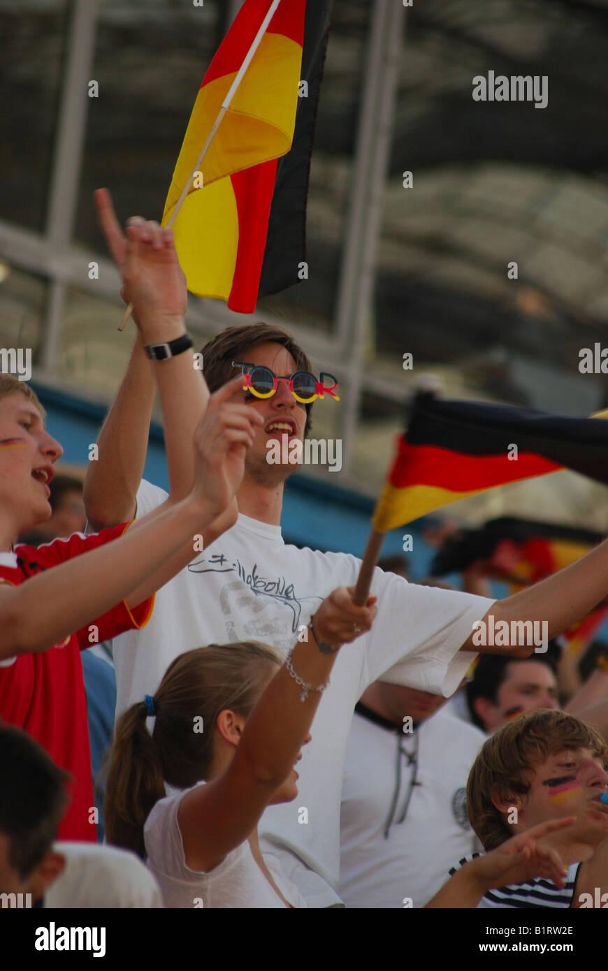 Europe, Germany, Bavaria, Munich, Football, Olympic, Stadium, Finale, UEFA, EURO, 2008, spain, championship, Olympiastadion - Stock Image