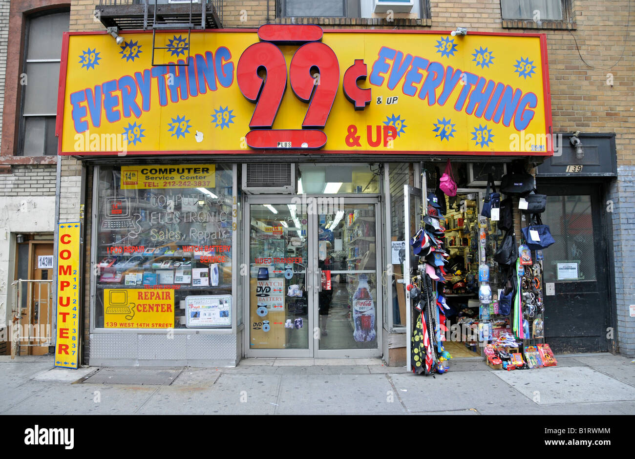 99 Cent Store Discount Store Dollar Shop Manhattan New York City