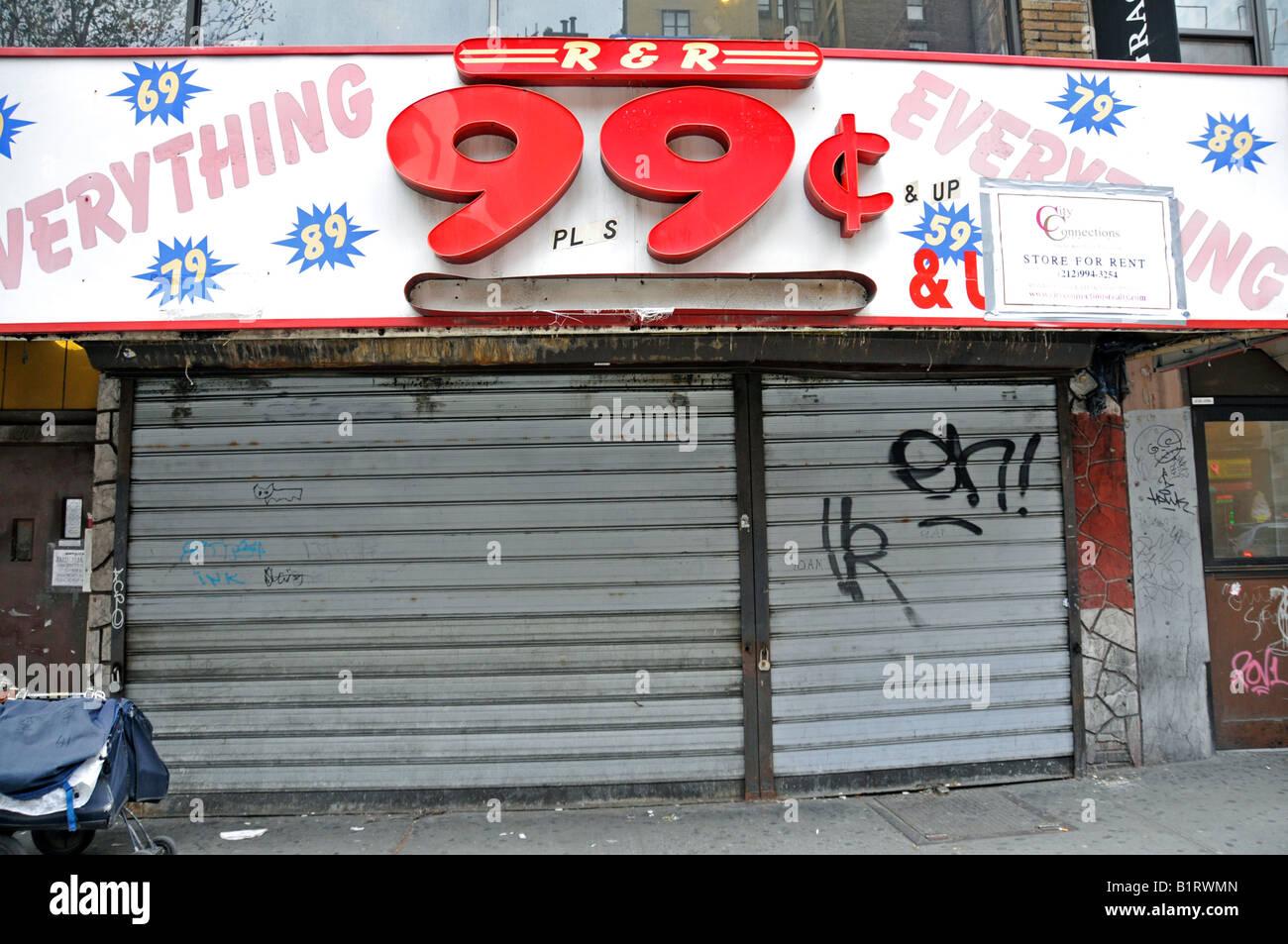 Store Closure Of A 99 Cent Discount Dollar Shop Manhattan