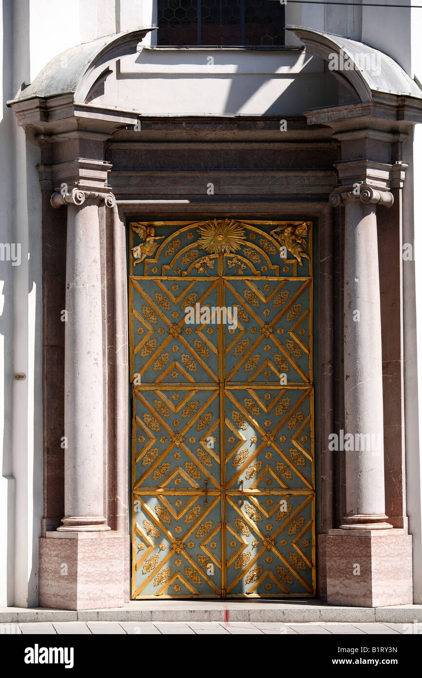 Door of the Dreifaltigkeitskirche Holy Trinity Church historic centre of Munich Upper Bavaria : trinity door - pezcame.com