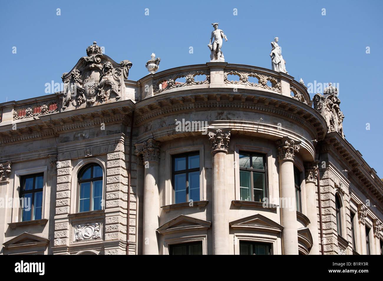 Former Koeniglich Bayerische Bank and Bayerische Staatsbank, former royal bavarian bank and state bank, Kardinal - Stock Image