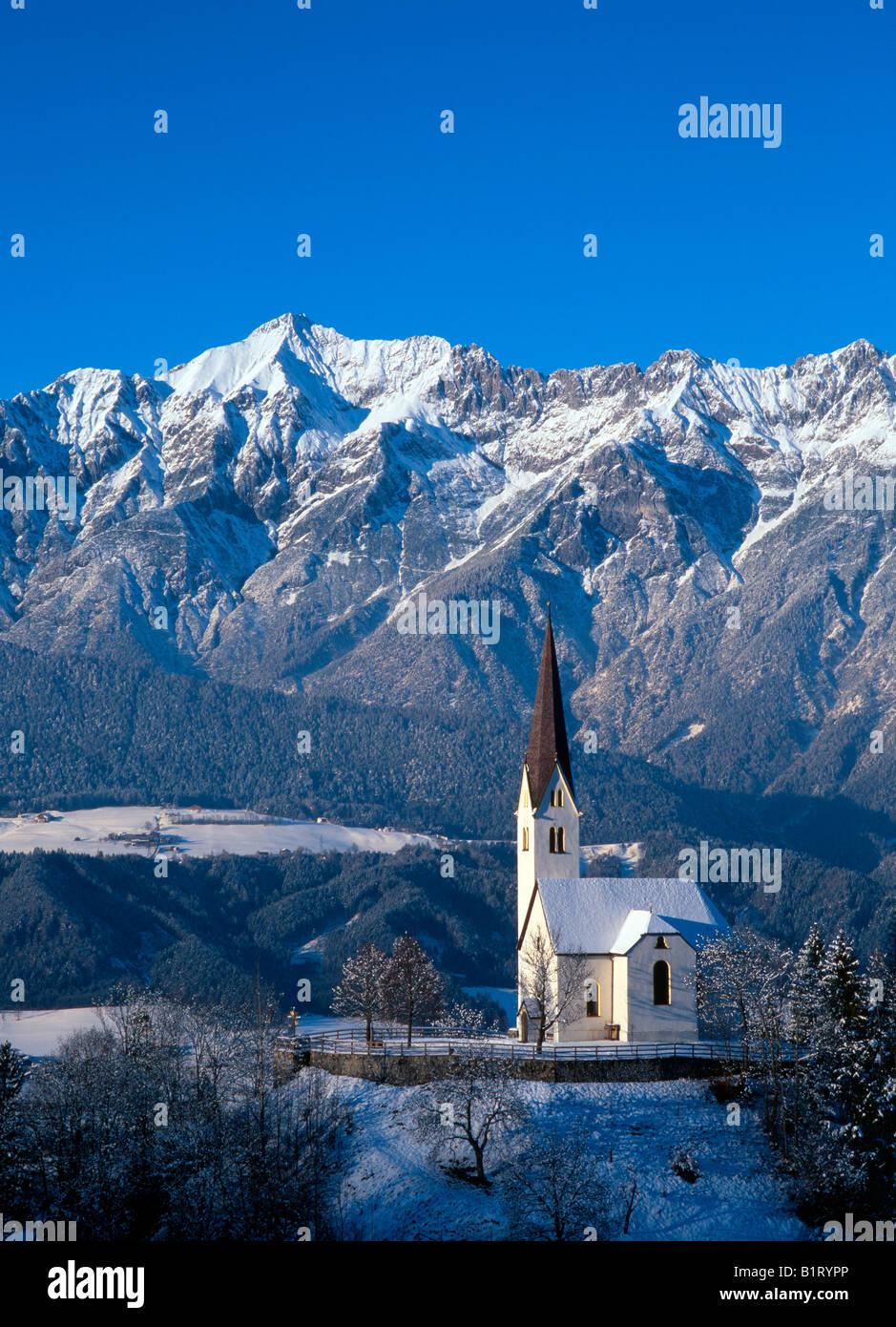 Church of St. Peter, Weerberg, Tyrol, Austria, Europe - Stock Image