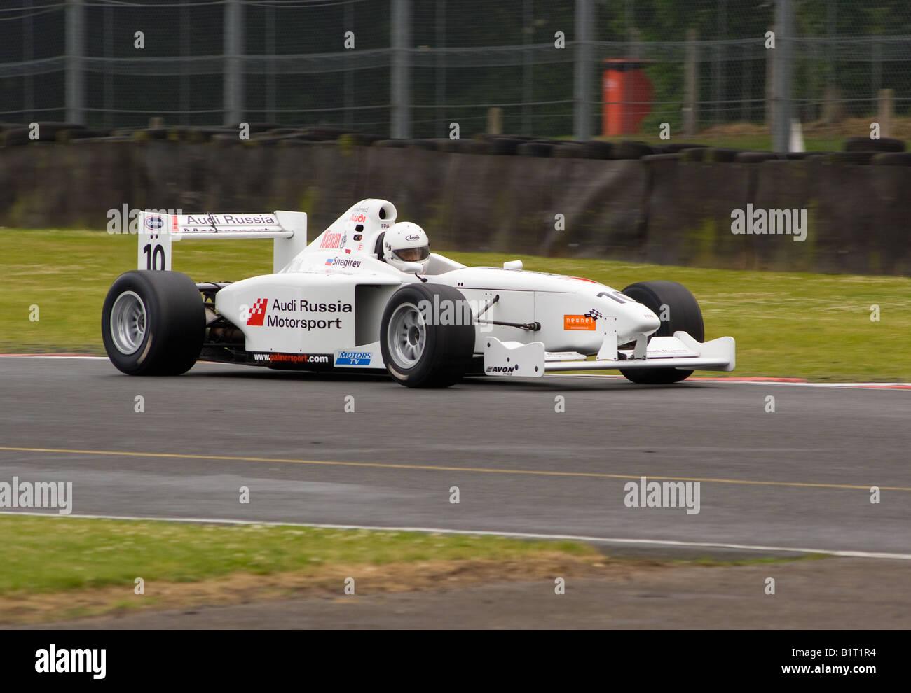 Formula Palmer Audi Racing Cars Exiting Old Hall Corner at Oulton ...