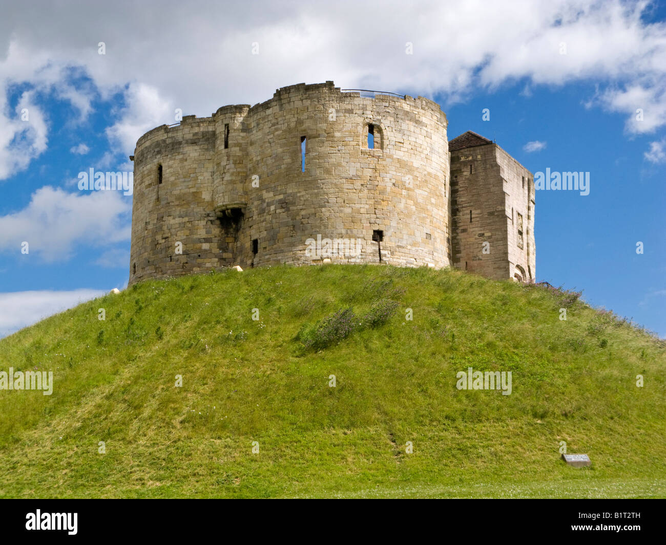 Cliffords Tower York Castle England UK - Stock Image