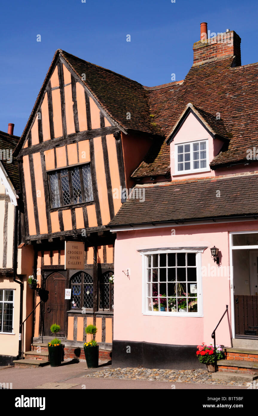 The Crooked House, Lavenham, Suffolk England UK - Stock Image