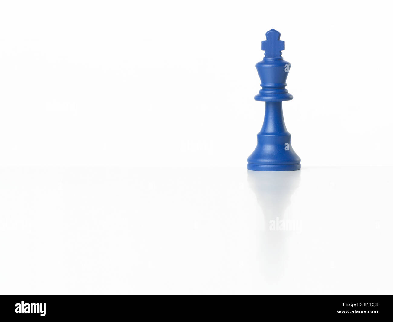 blue king chess piece - Stock Image