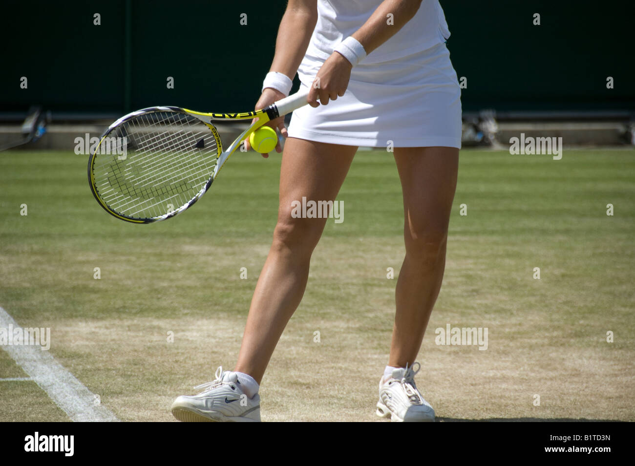 Tennis Serving Stance Stock Photo 18362169 Alamy