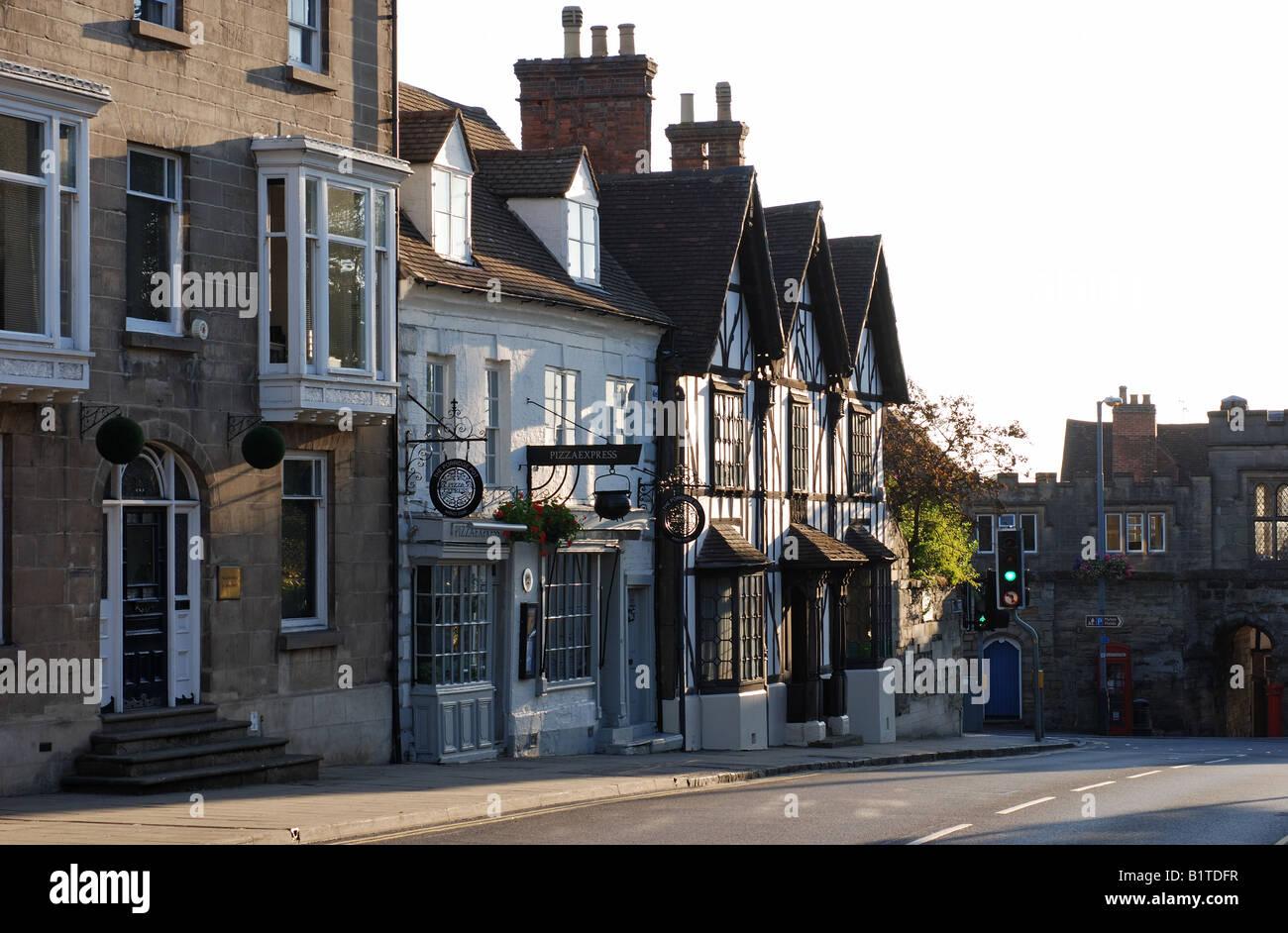 Jury Street Warwick Warwickshire England Uk Stock Photo