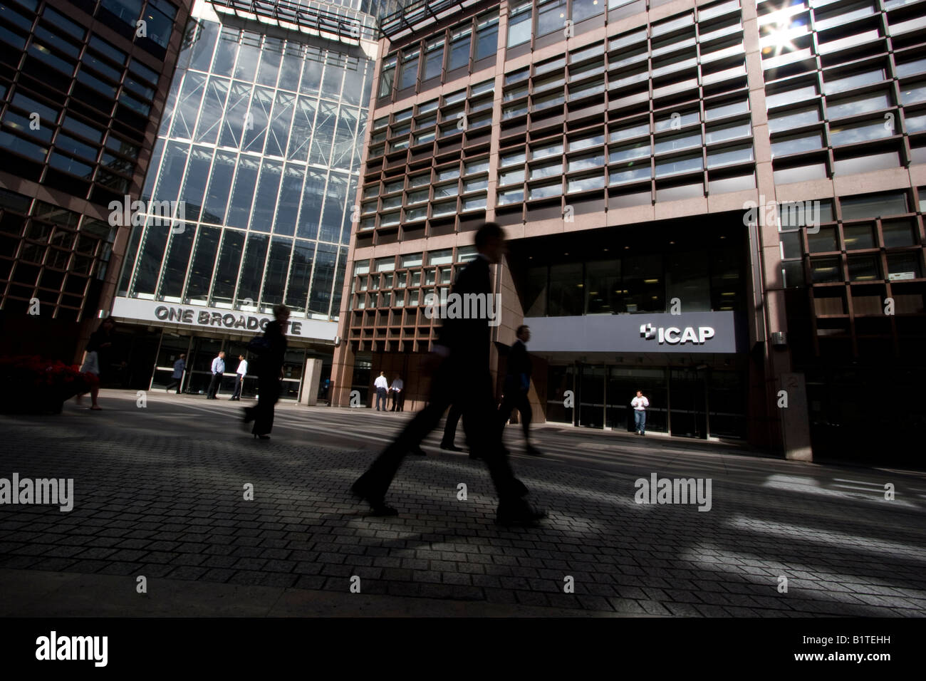 Icap broadgate London UK ICAP - Stock Image