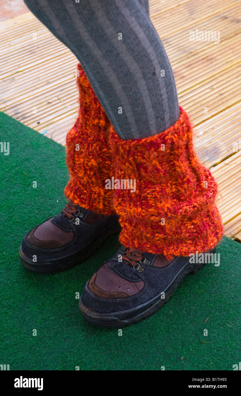Wet weather footwear at The Guardian Hay Festival 2008 Hay on Wye Powys Wales UK EU - Stock Image