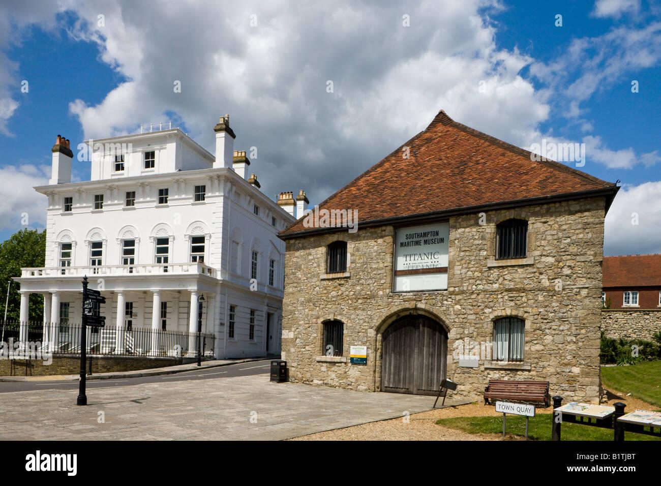 Southampton Maritime Museum, Wool House and Royal Yacht Club, Southampton, Hampshrie, England Stock Photo