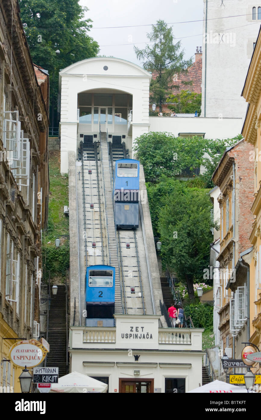 Zet Uspinjaca Zagreb Zagreb Funicular View Dupwards Towards Gornji Stock Photo Alamy