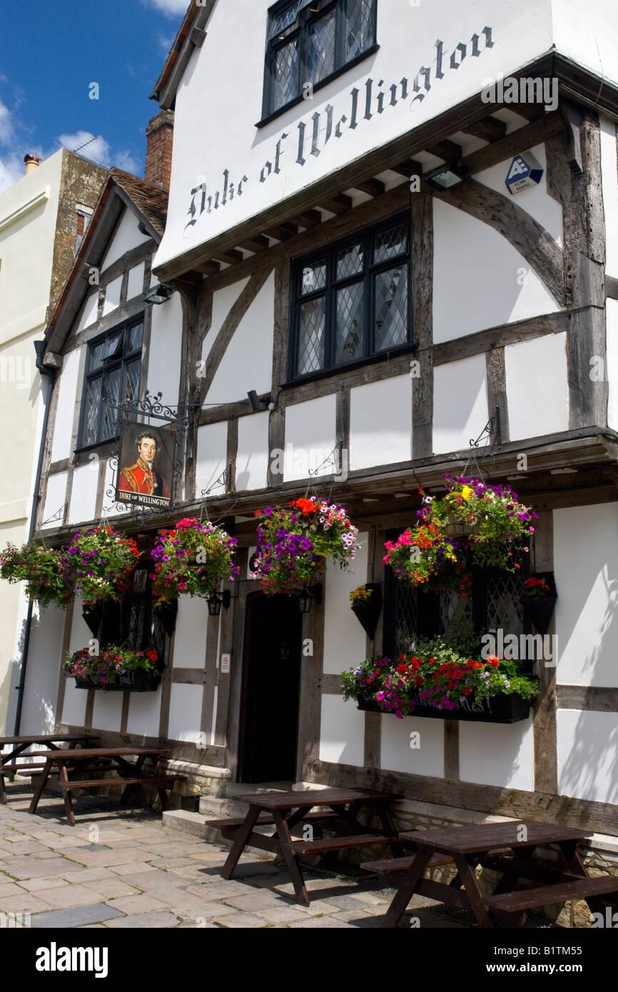 Duke of Wellington pub in Southampton Hampshire England - Stock Image