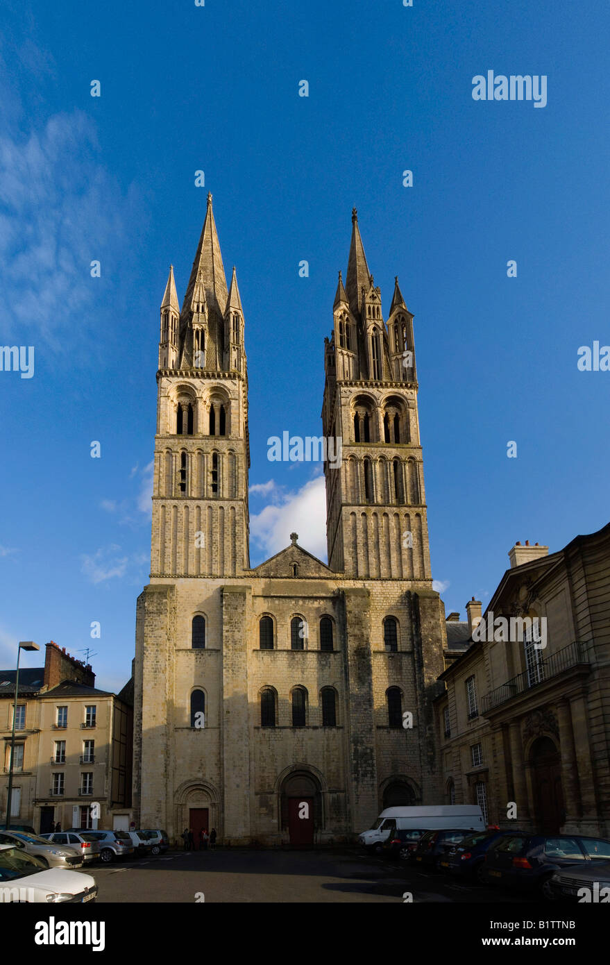 France Normandy city of caen Saint Etienne abbaye au hommes men's abbey - Stock Image