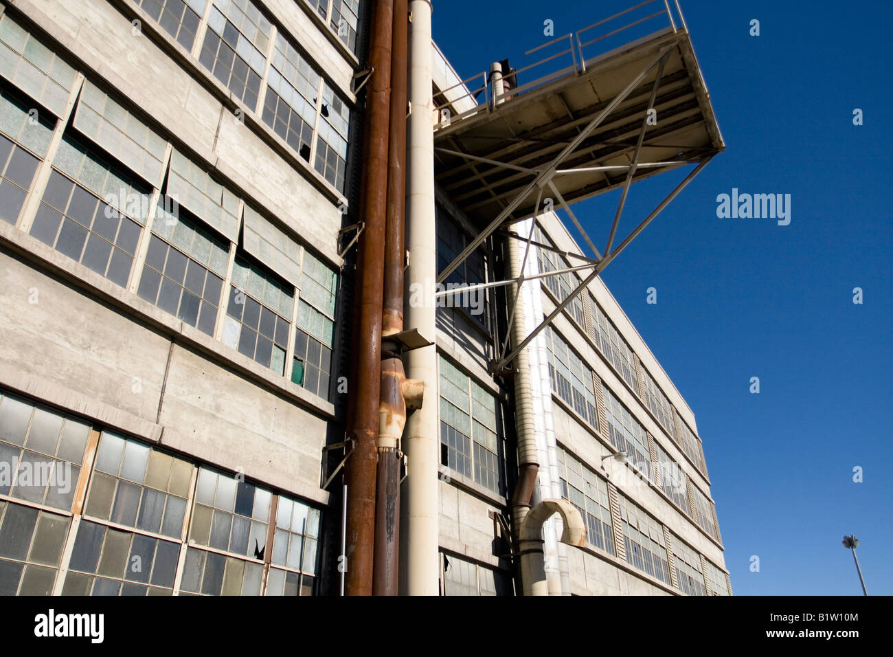 Empty Manufacturing Plant Stock Photo