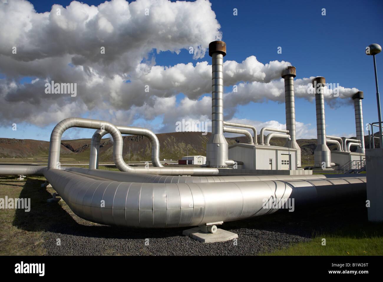 Nesjavellir Geothermal Plant in Iceland - Stock Image