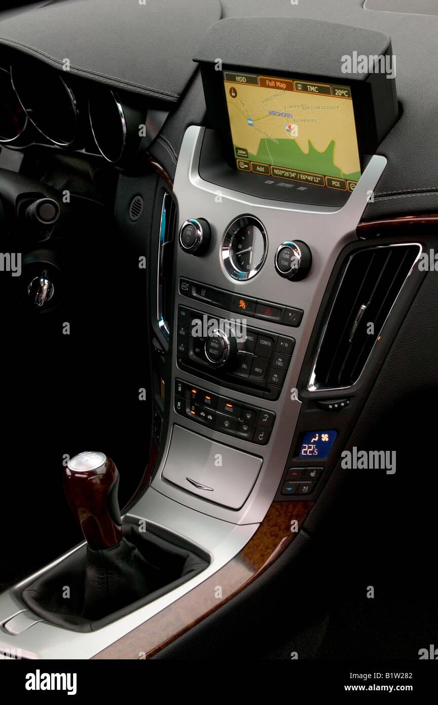 In car Sat Nav system Stock Photo