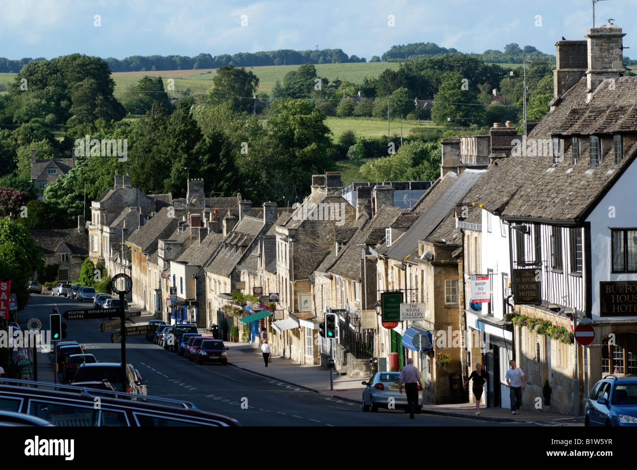 Burford a Cotswold town in Oxfordshire England UK - Stock Image