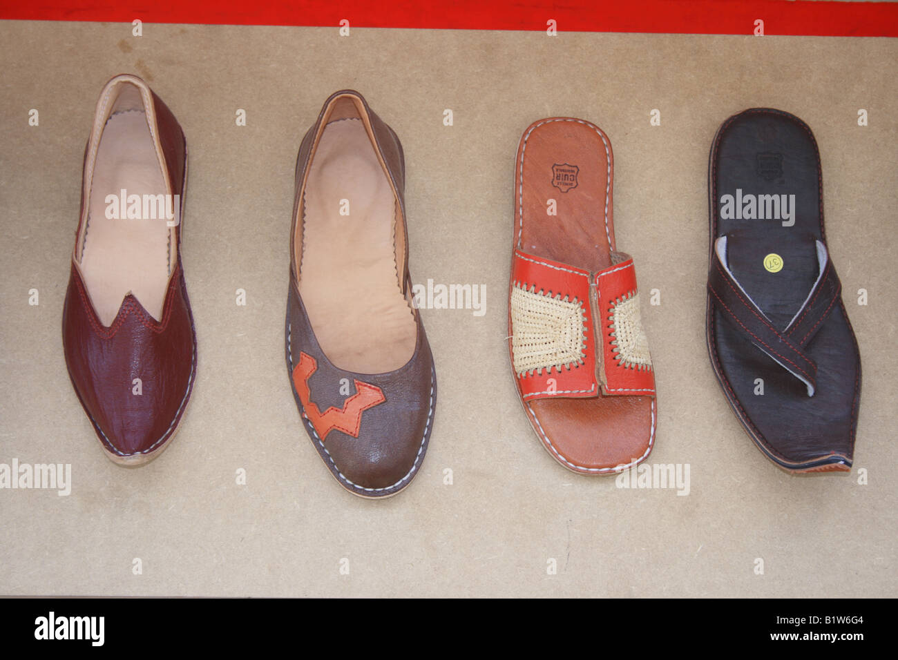 852744fb1355 various hand made leather ladies  shoes. Photo by Willy Matheisl - Stock  Image