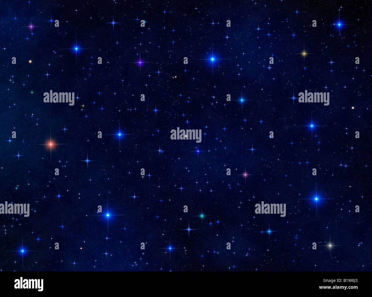 Universe view illustration - Stock Image