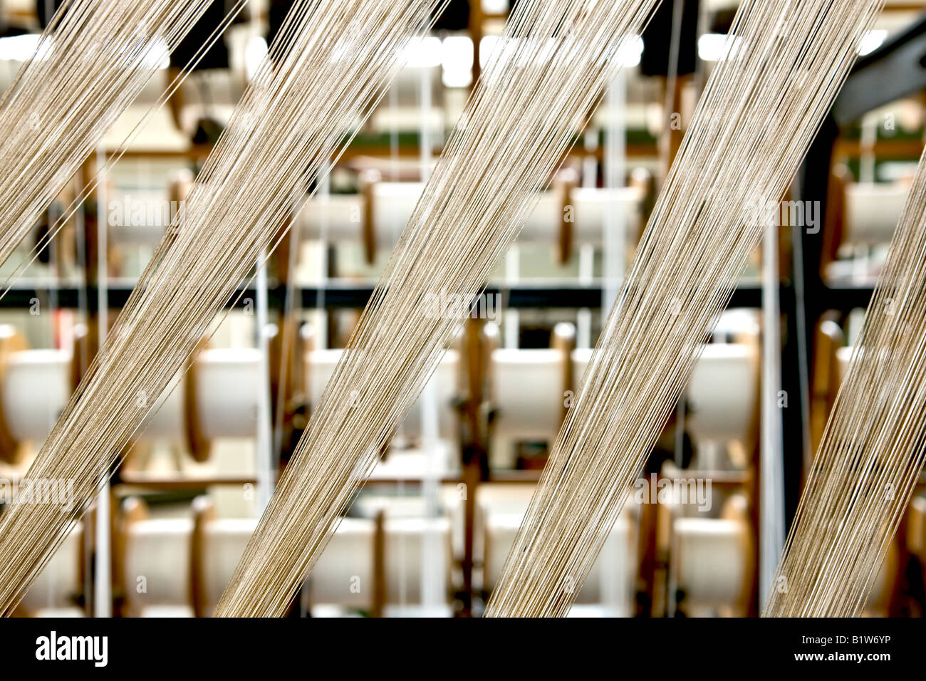 Weaving proces - Stock Image